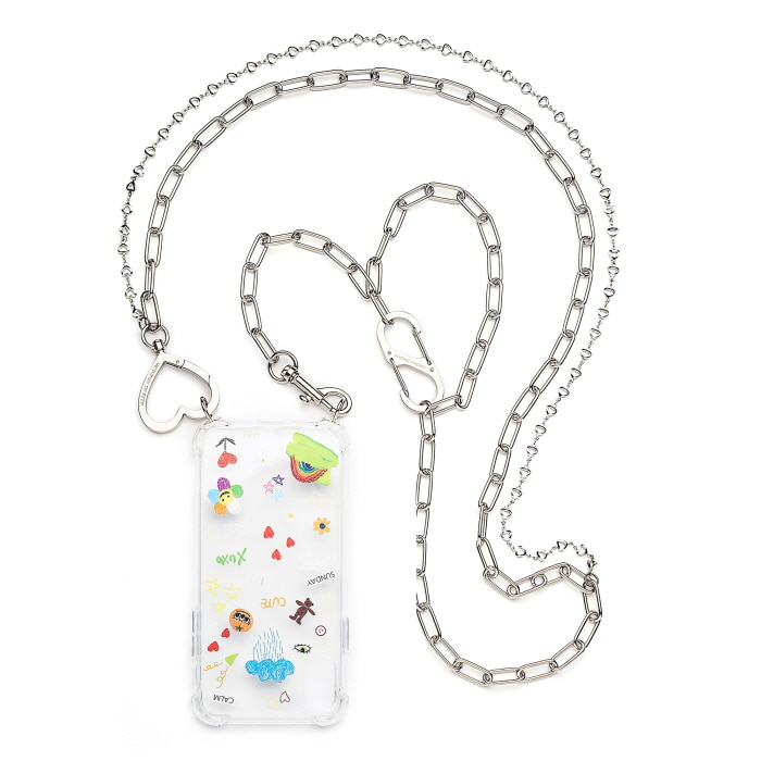 """LOVE HEART LAYERED CHAIN"" CASE"