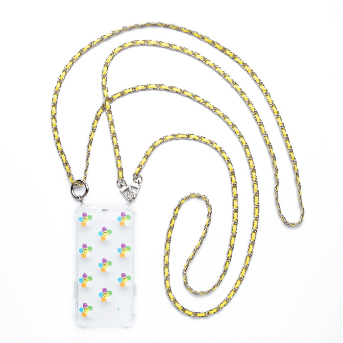 """SILVER YELLOW"" DOUBLE CROSS CHAIN BAG CASE"